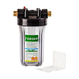 Гейзер 10ВВ (прозрачный) корпус магистрального фильтра