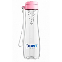 Бутылка BWT для воды розовая со вставкой